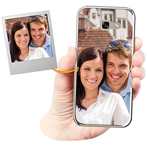 Coverpersonalizzate.it Cover Personalizzata per Samsung Galaxy A5 2017con la Tua Foto, Immagine o Scritta - Custodia Morbida in TPU Gel Trasparente - Stampa di altissima qualità