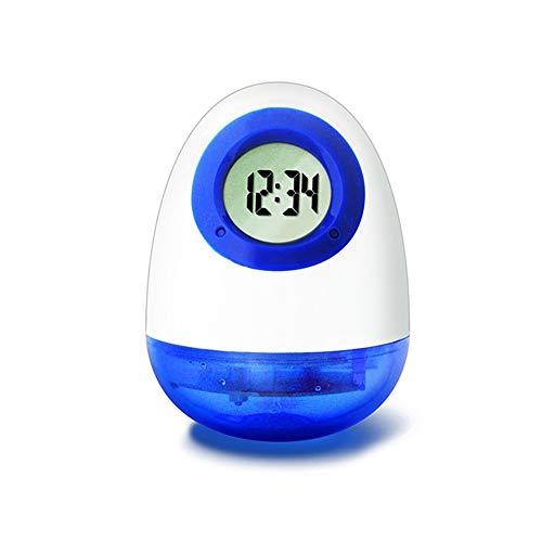 L.HPT H2O Wasser Powered Wecker Digital Wecker Globus Wasser Alarm Multifunktionale Umweltschutz einfache Stumm Desktop-Mode für Büro Wohnzimmer Schlafzimmer