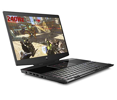 HP OMEN X 15-dg0001na 15.6 Inch FHD 240 Hz Gaming Laptop with Dual-screen, Intel Core i7-9750H, 16GB, 512 GB SSD, NVIDIA GeForce RTX 2070- Black (Renewed)