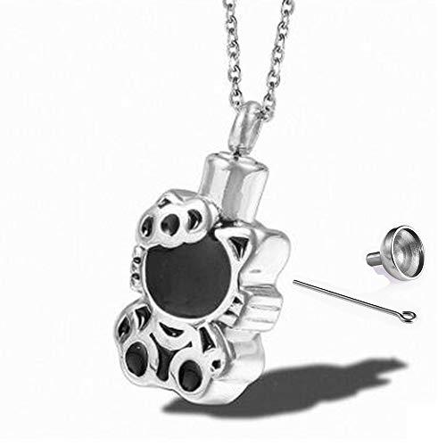 SONGAI Cofre para Mascotas Collar de Gato Colgante Aceite de la Gota Botella de Perfume de Acero Inoxidable Hombres y Mujeres Adornos de Moda Joyería de Acero de Titanio (Color : C)