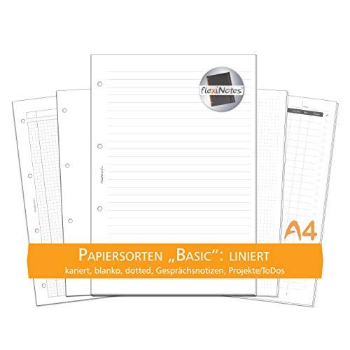 flexiNotes PAPIER A4, 75 Blatt Notizpapier Typ: Basic, liniert