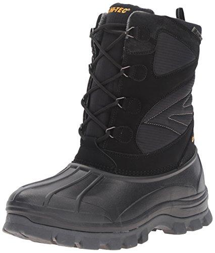 HI-TEC Men's Hokkaido 200g Waterproof-M Snow Boot, Black/Grey, 13 M US