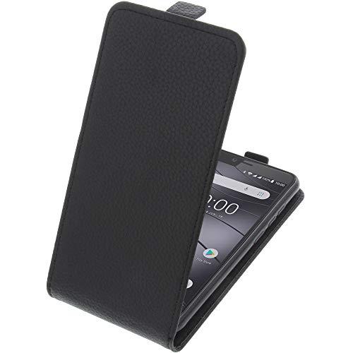 foto-kontor Tasche für Gigaset GS100 Smartphone Flipstyle Schutz Hülle schwarz