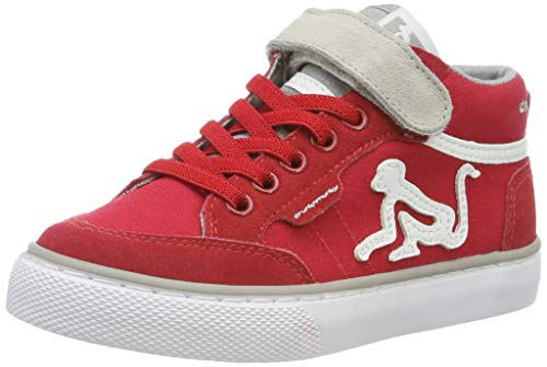 DrunknMunky Boston Mid, Sneaker a Collo Alto Bambini e Ragazzi, Rosso (Red/Gray B04), 34 EU