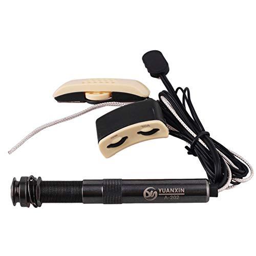 Battitachil Gitarren Tonabnehmer Gitarren Tonabnehmer Lyric Acoustic TRU-MIC Noise Cancelling Klassisches Gitarrenmikrofon für Klassische Akustikgitarre für Gitarren-Ukulele Violine, Mandoline, Banjo