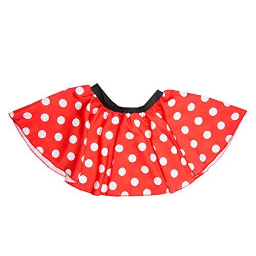 Oblique Unique® Damen Frauen Ballon Rock Vielzweckrock in Rot mit weißen Punkten als Kostüm Accessoire für Fasching Karneval Motto Party