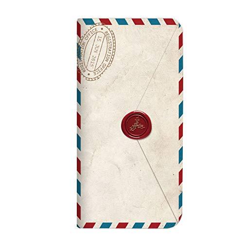 mitas iPhoneSE 第2世代 ケース 手帳型 ベルトなし 手紙 封筒 切手 B (249) NB-0231-B/iPhoneSE_2020