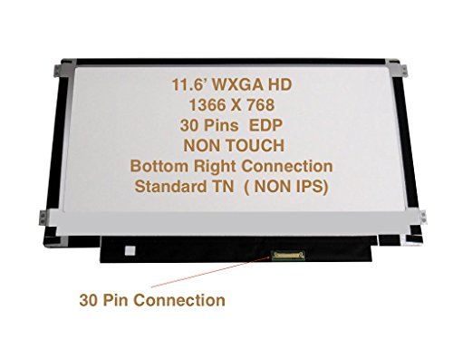 "Boehydis Nt116whm-n21 Replacement LAPTOP LCD Screen 11.6"" WXGA HD LED DIODE (Substitute Only. Not a) (30 PIN) (Original Version)"