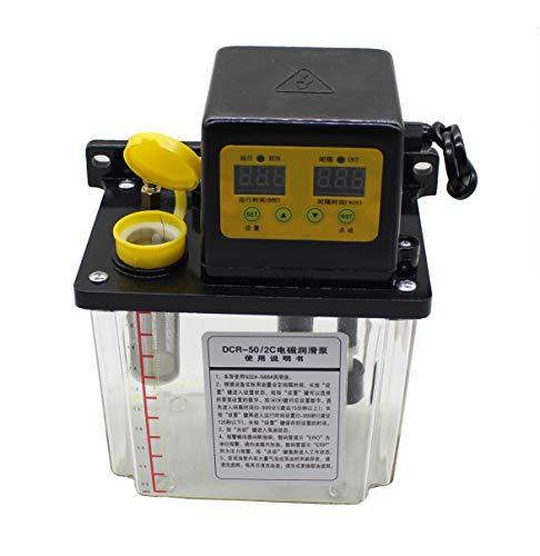 2L Pantalla Digital Dual Bomba de Lubricación Automática Eléctrica Bomba de Aceite...