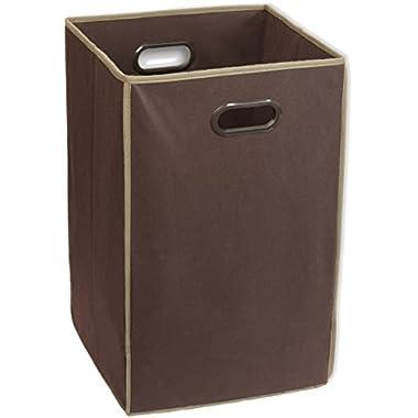 Simple Houseware Foldable Closet Laundry Hamper Basket, Brown