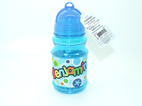 Benjamin - Botella con tapa abatible para bolsas de almuerzo de 16 cm de altura – Por favor, ten en cuenta que los nombres de las botellas no se pueden cambiar el nombre que recibirás está en el título