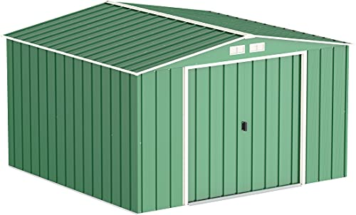 Duramax ECO 10' x 10' Hot-Dipped Galvanised Metal Garden Shed