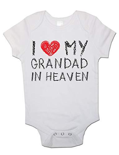 Body à manches courtes unisexe avec inscription « I Love My Grandad in Heaven »