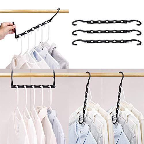 TYOLOMZ Platzsparender Kleiderbügel, 360 Grad drehbar, multifunktional, zusammenklappbar, magischer Kleiderbügel, Kleideraufbewahrung