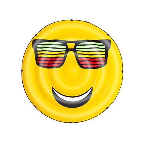 Bestway-H2OGO SummerStylez Isola Galleggiante Gonfiabile a Forma di Smile, Multicolore, 173 x 173 x 25 cm, 43139