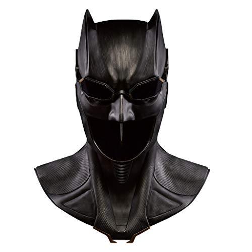 QWEASZER Justice League Batman 1: 1 Maske Helm Adult COS Head Helm Maske Halloween Ostern Weihnachten Maskerade Parteien tragbare Cosplay Prop Serie,Black-<61cm