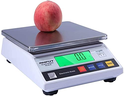 QUERT Balanza electrónica analítica de precisión electrónica 0.01g Contador electrónico Digital de Laboratorio, con Tara LCD,