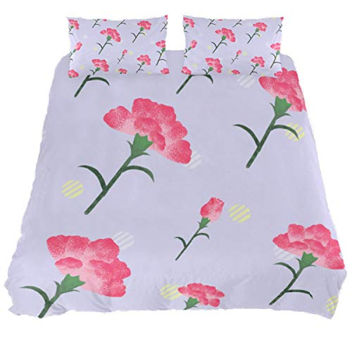 Audrey Brown Poly Cotton Duvet Cover Sets Duvet Protector Winter Duvet Cover Double Bed Allergenic Waterproof Duvet King Pink flowers on white