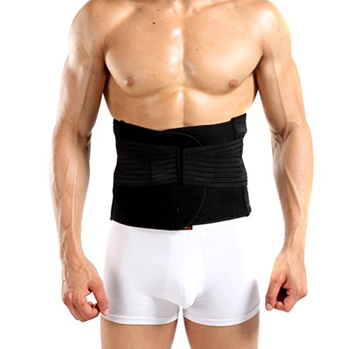 Happy Will Breathable Adjustable Men's Waist Trimmer Waist Trim Belt Lose Weight Tummy Tuck Trimmer Belt Waist Belly Shaper Belt for Men with Stylus XXL