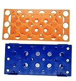 28 Bien Naranja/Azul Centrífuga Tubo Rack para 10ml/15ml/50ml Laboratorio Plástico Tubo Titular