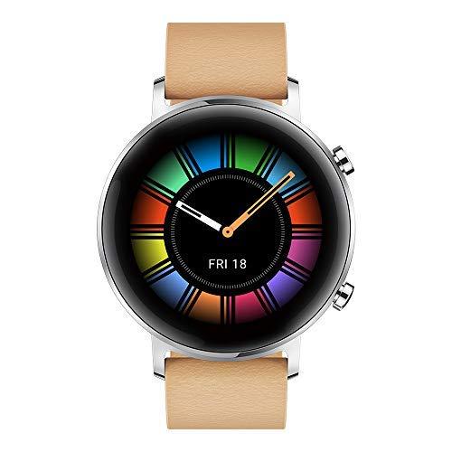 HUAWEI Watch GT 2 Smartwatch 42 mm, Durata della Batteria fino a 1 Settimana, GPS, 15 Modalità di Allenamento, Monitoraggio del Battito Cardiaco in Tempo Reale, Gravel Beige