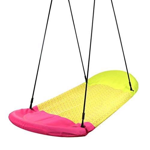 Liefdeslamp Outdoor Swing Kinderschommel Binnen en Buiten Volwassen Hangmat Stof Vogels Nest Boot Vorm Swing Balkon Stoel Dubbele Swing Kinderstoel Speelgoed