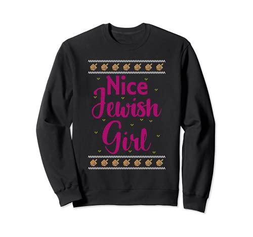Funny Nice Jewish Girl Dreidel Hanukkah Sweatshirt