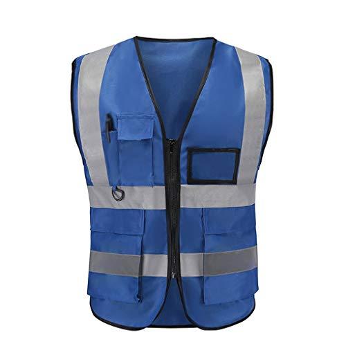Vest Workwear Safety Gilet Reflecterende Securite Veiligheid Vest Reflector Mouwloos Jas Donkerblauw