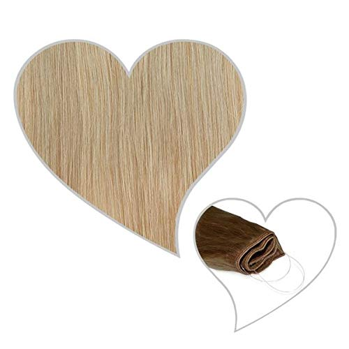 GLOBAL EXTEND® Easy Flip Extensions in aschblond#18 60cm aus 100% Echthaar Halo Secret Haarverlängerung Haarverdichtung Real Human Hair Extensions