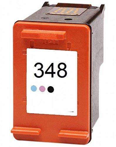 Printing Pleasure Compatible HP 348 Cartucho de Tinta Reemplazo para PSC 1610 Photosmart C3180 C4180 C4280 C4380 C4480 C4580 C5280 D5160 D5360 2610 7850 8050 8150 8750 - Fotográfico, Alta Capacidad