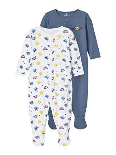 NAME IT Child Schlafanzug 2er-Pack Druckknopf 74China Blue