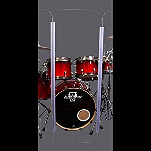 Acrylic Single Panel Only 1 Drum Shield Panel 2foot X 4foot with Chrome Metal Hinges
