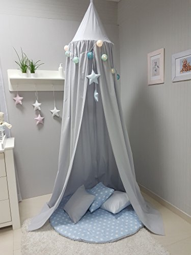 Babymajawelt® Spieldecke + 3 Kissen XXL, Krabbeldecke Spielteppich 120 cm weich gepolstert (blau)