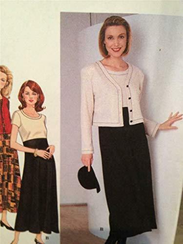 Simplicity 7375 - Patrones de costura para chaleco de mujer (tallas 34 a 42)
