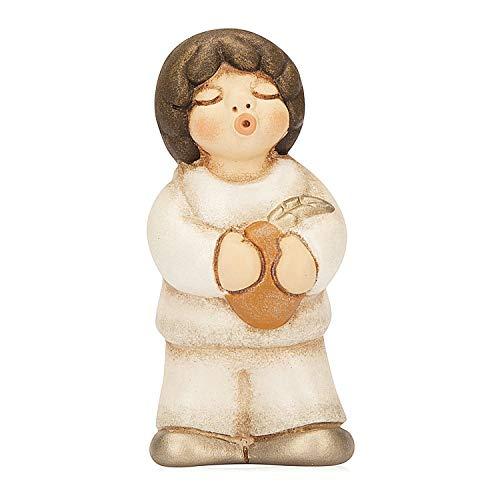 THUN - Statuina Presepe Pastore - Decorazioni Natale Casa - Linea Presepe della Famiglia - Ceramica - 5,5 x 7,6 x 4,6 cm