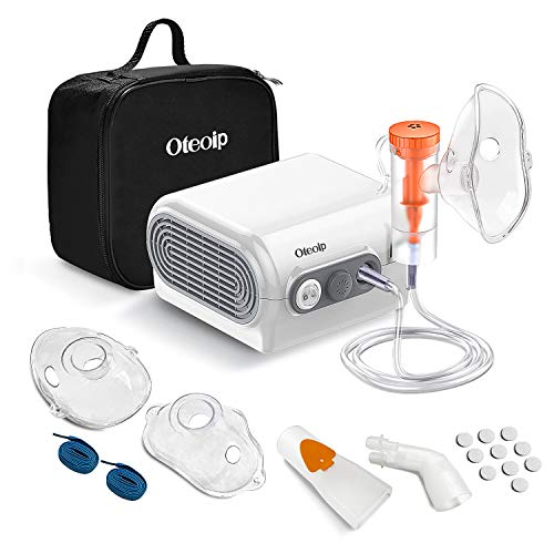 Nebulizador Compresor Electrico Inhalador Inhalación para Bebe Adulto con Kit para Utilizar hogar Incluye Tubo, adulto Máscara, Máscara para niños, inhalador Boquillas, medicinal Cup etc