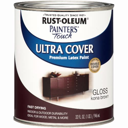 Rust-Oleum 1977502 Painters Touch Latex, 1-Quart, Gloss Kona Brown