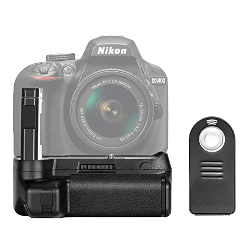 Neewer Battery Grip for Nikon D3400 DSLR Camera Vertical Shutter Release Button Work with One or Two EN-EL14a Battery (NW-D3400)