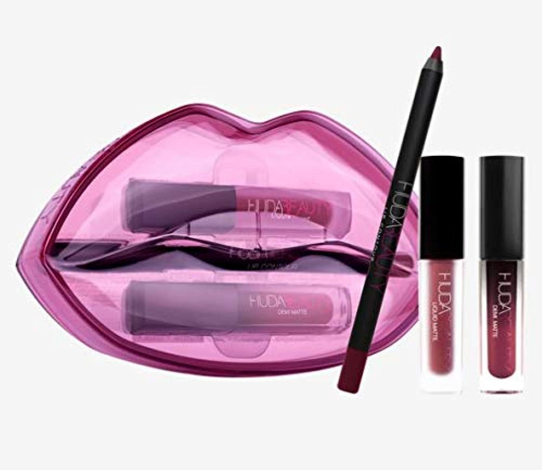 重力中絶調整Hudabeauty Matte & Cream Lip Set Bawse & Famous リップセット マットリップ