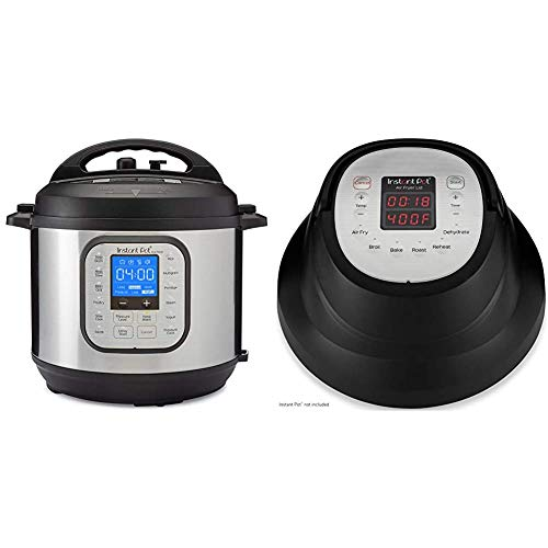Instant Pot Duo Nova 7-in-1 Electric Pressure Cooker, Slow Cooker, Rice Cooker, Steamer, Saute, 14 One-Touch Programs & Air Fryer Lid 6 in 1, Turn your Instant Pot into an Air Fryer, 6 Qt, 1500W