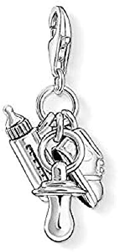 Thomas Sabo Damen Charm-Anhänger Baby Geburt Club 925 Sterling Silber 1116-637-12