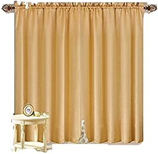 Octorose  Royalty Custom Waterfall Window Valance and Swags & Tails (Gold, Pair of Curtain(118x84inch))