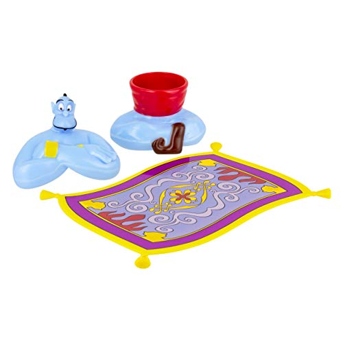 Disney PP5081DP Aladdin Eierbecher Magic Carpet Levitating Effect Plate Egg Holder & Topper Genie Design, Silikon, mehrfarbig