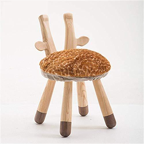 Dierlijke Houten Stoel, Kleine voetbank Scandinavische Kinderstoel Kwekerij Stoel 26x30x53cm (Kleur : D)