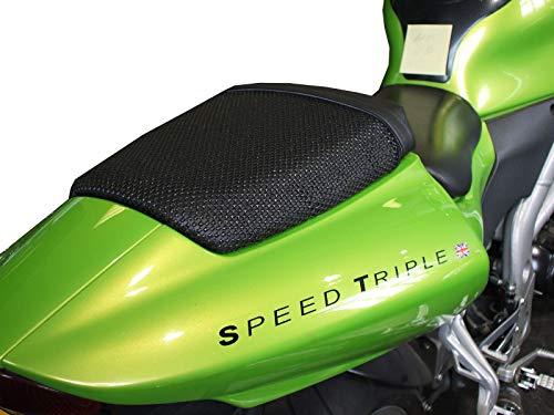 Triboseat stoelhoes voor bestuurder, antislip, zwart, compatibel met Triumph Daytona 955i (2001-2006)