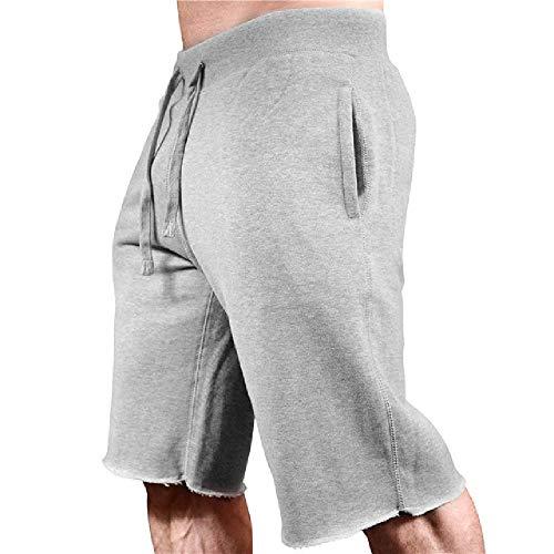 OKJI Nieuwe Zomer Heren Shorts Gyms Slim fit Bodybuilding Mode Joggers Sweatpants Mannen Fitness Korte Broek Sportkleding