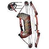 "Southwest Archery Ninja Kids Youth Compound Bow Kit - Fully Adjustable 20-29"" Draw 10-20LB Pull -..."
