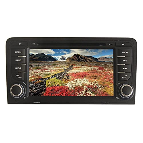 2 DIN Car Radio Pantalla táctil Android 7.1 Car Radio 7'Car Radio RAM 2G Sistema de navegación GPS con Reproductor de DVD para Audi A3 2003-2011 Soporte Control del Volante, Bluetooth, WiFi