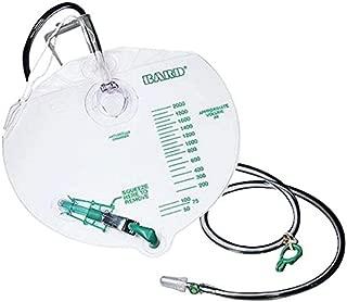 Bardia Special Pack of 5 Drain Bag Anti-reflux Urine Standard 2000ml - Bard 802001