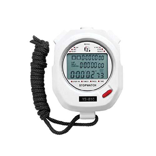 Youngy Três linhas de 100 timers de cronômetro e treinamento de campo preto e branco 2 cores opcional temporizador de corrida - branco - YS-810
